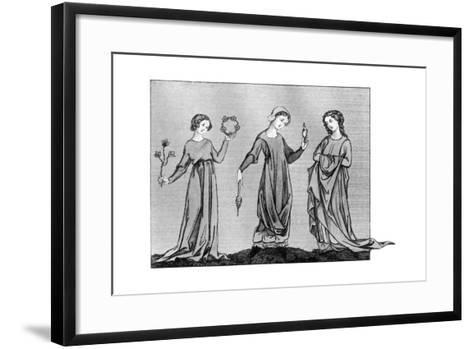 Young Girls, 13th Century--Framed Art Print