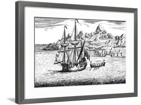 The Massacre and Burning of Two Villages at Madagascar, C16th Century--Framed Art Print