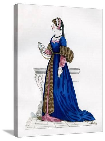 Lady from the Court of Francis I of France, 16th Century (1882-188)--Stretched Canvas Print