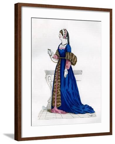Lady from the Court of Francis I of France, 16th Century (1882-188)--Framed Art Print