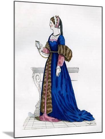 Lady from the Court of Francis I of France, 16th Century (1882-188)--Mounted Giclee Print