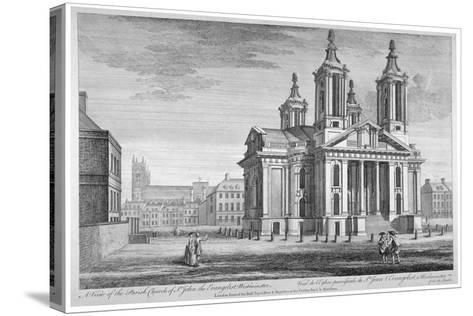 Church of St John the Evangelist, Westminster, London, C1751--Stretched Canvas Print