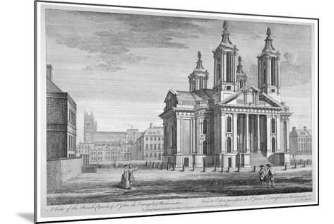 Church of St John the Evangelist, Westminster, London, C1751--Mounted Giclee Print