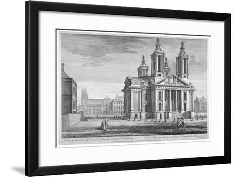 Church of St John the Evangelist, Westminster, London, C1751--Framed Art Print