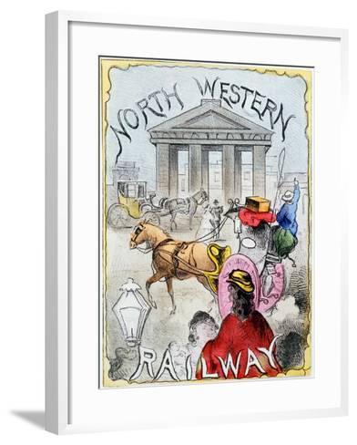 London Terminus of the London and North Western Railway, Euston, London, C1860--Framed Art Print