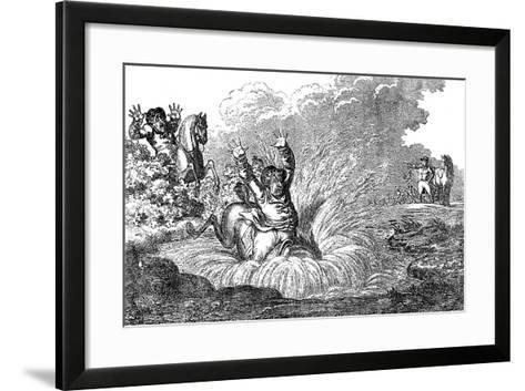 Coming in at the Death, 1800--Framed Art Print