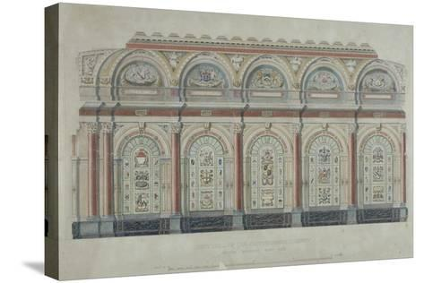East Side View of the Livery Hall of the Clothworkers' Company, City of London, 1860--Stretched Canvas Print