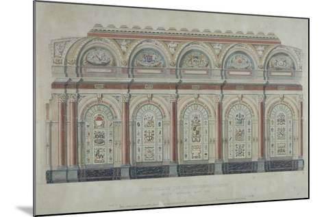 East Side View of the Livery Hall of the Clothworkers' Company, City of London, 1860--Mounted Giclee Print