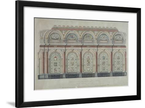 East Side View of the Livery Hall of the Clothworkers' Company, City of London, 1860--Framed Art Print