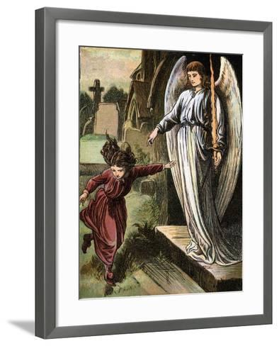 The Red Shoes, Fairy Story by Hans Christian Andersen, C1880--Framed Art Print