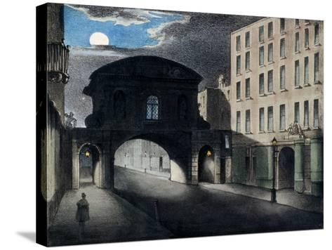 Temple Bar, London, 1837--Stretched Canvas Print