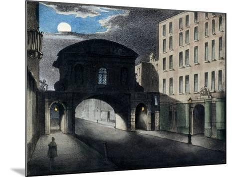Temple Bar, London, 1837--Mounted Giclee Print