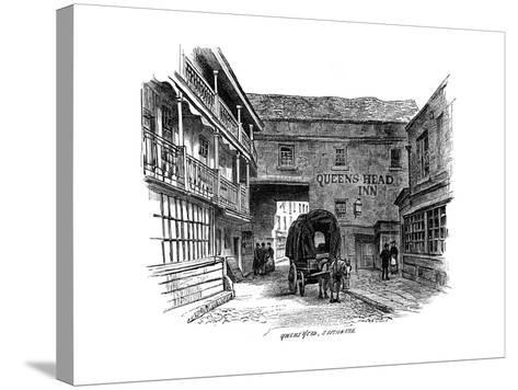 The Queen's Head Inn, Southwark, London, 1887--Stretched Canvas Print