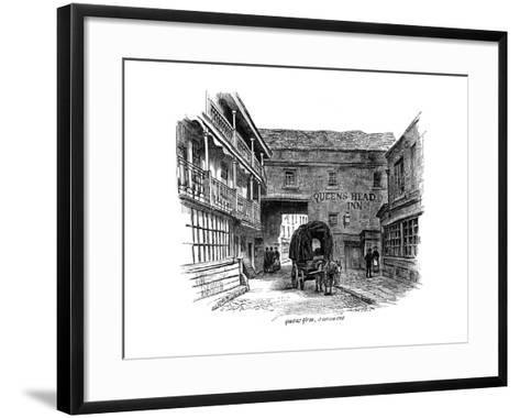 The Queen's Head Inn, Southwark, London, 1887--Framed Art Print