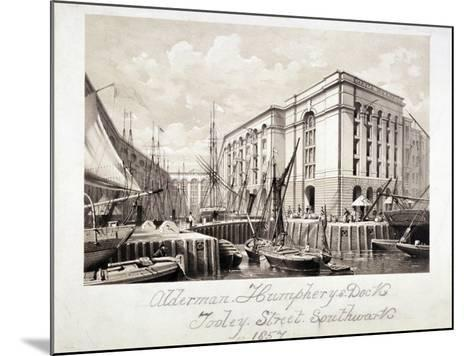 View of John Humphrey's Dock and Hay's Wharf, Tooley Street, Bermondsey, London, 1857--Mounted Giclee Print