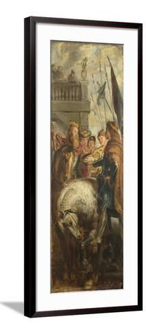 Kings Clothar and Dagobert Dispute with a Herald from the Emperor Mauritius-Peter Paul Rubens-Framed Art Print