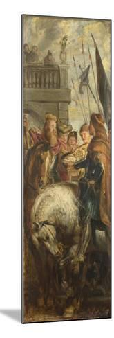Kings Clothar and Dagobert Dispute with a Herald from the Emperor Mauritius-Peter Paul Rubens-Mounted Giclee Print