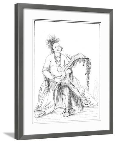 Osage, Fort Gibson, Arkansas, 1841- Tofswill and Myers-Framed Art Print