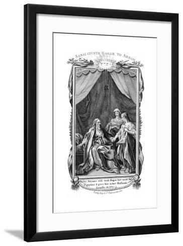 Sarah, Abraham's Wife, Being Barren, Offers Hagar Her Maid to Her Husband, C1804--Framed Art Print