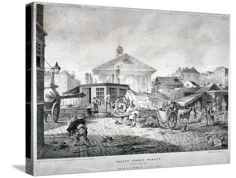 Covent Garden Market, Westminster, London, 1815--Stretched Canvas Print