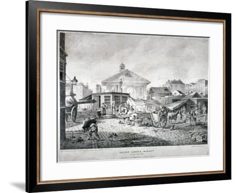 Covent Garden Market, Westminster, London, 1815--Framed Art Print