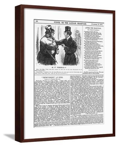 Is it Possible?, 1885-Charles Samuel Keene-Framed Art Print