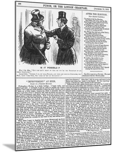 Is it Possible?, 1885-Charles Samuel Keene-Mounted Giclee Print