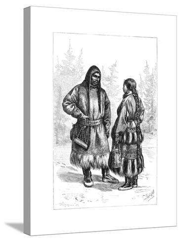 An Ostyak Couple, Asia, 1895--Stretched Canvas Print