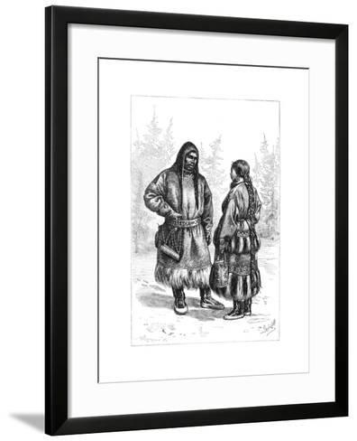 An Ostyak Couple, Asia, 1895--Framed Art Print