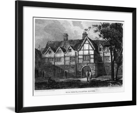 Old Porch, Charterhouse, London, 1815- Owen-Framed Art Print