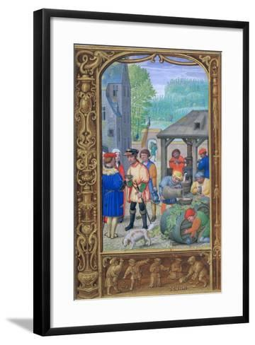 October, Wine-Making, Early 16th Century--Framed Art Print
