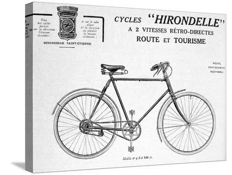 Hirondelle Saint Etienne, Bicycle Tourism Advertisement, 20th Century--Stretched Canvas Print