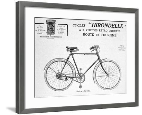 Hirondelle Saint Etienne, Bicycle Tourism Advertisement, 20th Century--Framed Art Print