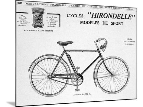 Hirondelle Saint Etienne, Bicycle Tourism Advertisement, 20th Century--Mounted Giclee Print