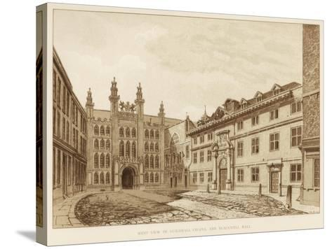West View of Guildhall Chapel and Blackwell Hall, City of London, 1886--Stretched Canvas Print