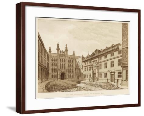West View of Guildhall Chapel and Blackwell Hall, City of London, 1886--Framed Art Print