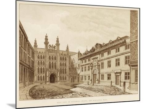 West View of Guildhall Chapel and Blackwell Hall, City of London, 1886--Mounted Giclee Print