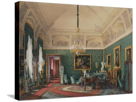 Interiors of the Winter Palace, the First Reserved Apartment, 1867-Eduard Hau-Stretched Canvas Print