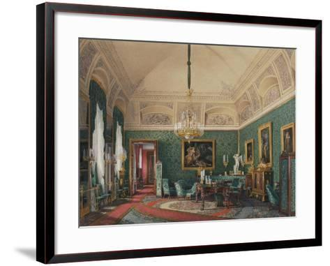 Interiors of the Winter Palace, the First Reserved Apartment, 1867-Eduard Hau-Framed Art Print