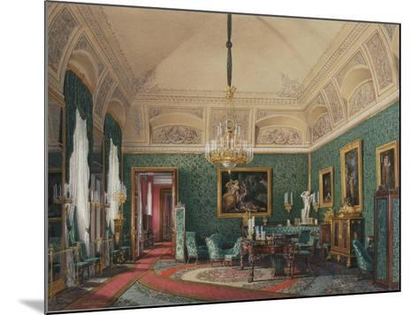 Interiors of the Winter Palace, the First Reserved Apartment, 1867-Eduard Hau-Mounted Giclee Print