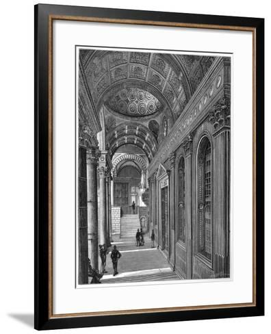 Portico of the Pazzi Chapel, Cloister of Santa Croce Basilica, Florence, 1882--Framed Art Print