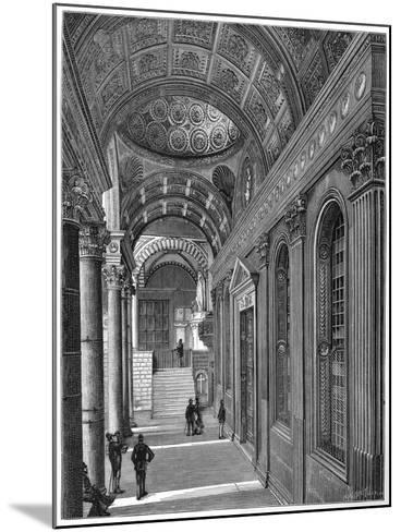 Portico of the Pazzi Chapel, Cloister of Santa Croce Basilica, Florence, 1882--Mounted Giclee Print