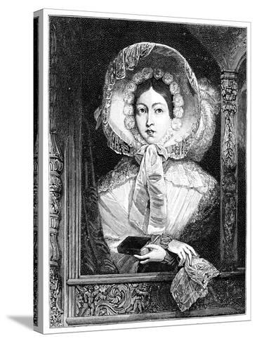 The Queen in the Royal Gallery, C1850S--Stretched Canvas Print