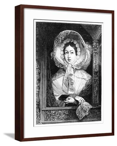 The Queen in the Royal Gallery, C1850S--Framed Art Print