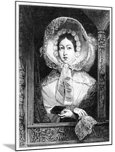 The Queen in the Royal Gallery, C1850S--Mounted Giclee Print