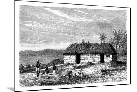 Hut at the Edge of Lake Tanganyika, Congo, 19th Century- Lavielle-Mounted Giclee Print