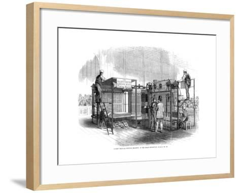Patent Vertical Printing Machine, Great Exhibition, London, 1851--Framed Art Print