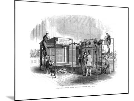 Patent Vertical Printing Machine, Great Exhibition, London, 1851--Mounted Giclee Print