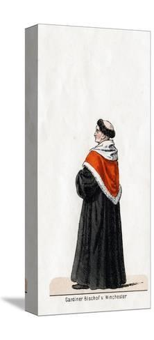 Stephen Gardiner, Costume Design for Shakespeare's Play, Henry VIII, 19th Century--Stretched Canvas Print