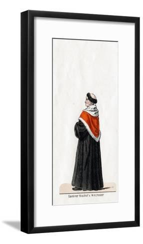 Stephen Gardiner, Costume Design for Shakespeare's Play, Henry VIII, 19th Century--Framed Art Print